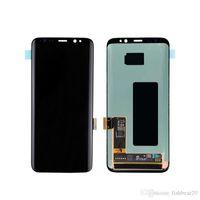 LCD Ekran Samsung Galaxy S8 G950 AMOLED Ekran Dokunmatik Paneller Digitizer Meclisi Siyah