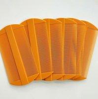 فرش العناية التصميم المنتجاتالاستيكية اثنين من الجانب أمشاط أحمر أصفر لون القمل مشط النساء أدوات العناية بالشعر انخفاض التسليم 2021 mw9fp