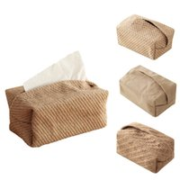 Tissue Boxes & Napkins Japanese-Style Jute Case Napkin Holder For Living Room Table Container Home Car Papers Dispenser