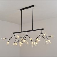Modern Tree Branch Led Chandelier Light Acrylic Firefly G4 Chandeliers Ceiling Lamp For Kitchen Art Decor Hanging Fixture