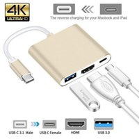 "USB3.1 Type-C a 4K HD-OUT 1080P USB-C Digital AV Multiport Adapter AD 4K OTG USB 3.0 Caricabatterie per MACBOOK 12 """