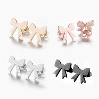 SAS PEAUS Nette Bogenknot Ohrringe für Kinder Mädchen Weihnachtsgeschenk Edelstahl Frauen Ohrring Ohrstecker Femme Femme