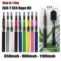 EGO-T CE4 E Sigaralar Başlat Kiti Atomizer Blister Vape Pil USB şarj cihazı ile 650 mAh Cartomizer