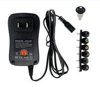 20ピースロットチャージャー調整可能電源AC 110-240V 0.25A~3V 4.5V 6V 7.5V 9V 12V 2A 5V 2.1Aトランスアダプター