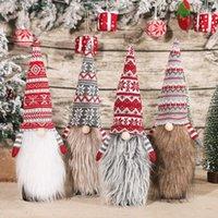Christmas Wine Bottle Topper Cobertura Gnome Hat Decorações Sueco Tomte Decorativo Xmas Partido Favores Favoritos HHB11186