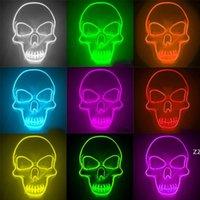 Cadılar bayramı Maskesi LED Glow Kafatası Maskeleri Çocuklar Için Newyear Gece Kulübü Masquerade Cosplay Kostüm HWD10320
