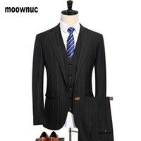 Men Suit 2021 Wedding Suits For 3 Pieces Slim Fit Burgundy Mens Royal Blue Tuxedo Jacket Blazer+vest+Pants Men's & Blazers