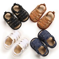 Summer Baby Sandals Shoes Newborn Infant Baby Boy Kids Crib Shoes Soft Sole Hook Causal Anti Slip Sneakers 0-18M A0513