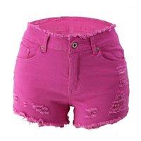 Jean Shorts Casual Women Apparel 20SS Women Designer Jeans Fashion Hot Ripped Tassel Zipper Fly High Waisted