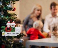 Moda Navidad decoración resina colgante fiesta de cumpleaños regalos personalizada creativa bendición ornamentos