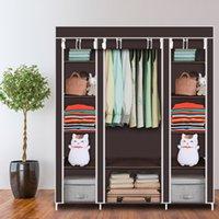 """69 """"Tragbare Kleiderschrank Kleiderschrank Lagerorganisation mit nicht gewebtem Stoff schnell und einfach zu montieren"""