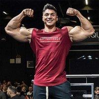 Erkek Sıkıştırma Kolsuz Gömlek Yaz Vücut Geliştirme Spor Salonları Yelek Spor Giyim Tayt Tank Tops Pamuk Kas Atthirt 210618
