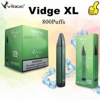 100% auténtico cigarrillo electrónico VAGE XL Lápiz vape desechable con 800puffs y batería de litio de 550mAh precolpada a 3.0 ml de transporte de aceite por UPS