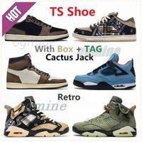 Travis Basketbol Ayakkabıları Koleksiyonu Yüksek Kalite Scott 1s 4 4 S 6 6 S SB Dunk Tıknaz Jumpman Retro Açık Havada Rahat Sneakers Kaktüs Jack Tuval Ayakkabı Sporları # 2021 #