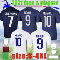 2021 France Mbappe Soccer Jerseys Players Grizmann Pogba 21 22 المنتخب الوطني Francia Giroud Fans Kante Football Shirts