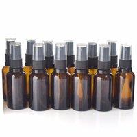 12 stücke leer nachfüllbar 30 ml bernsteinglas spray flasche vaporizador mit feinen nebelspritzen für ätherisches öl aromatherapie parfüm
