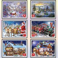 Puzzles de thème de Noël Puzzles 1000 Morceau adulte puzzle de puzzle assembler Puzzle tôt jouets éducatifs pour enfants cadeau d'anniversaire
