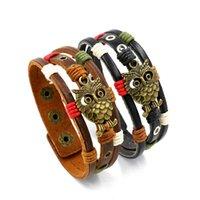 Bracelets Punk Hommes Bracelet En gros Bracelet Élégant Eagle Owl Corde pour homme