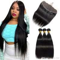 Straight Hair Malaysian 3 Bundles With Unprocessed Lace Frontal Grade 7a Virgin Hair Bundle Deals Natural Black Remy Human Hair Weft