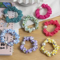 Girls Hair Accessories Tie Hairbands Bands Headbands Childrens Pearl Ring Bow Hairline Scrunchies Flower Accessory B6419