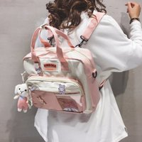 Women's backpack nylon Kawaii Backpacks for women Cute badge School backpack for girls fashion Shoulder Women's bag