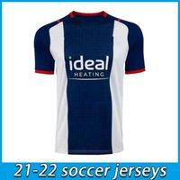2021 2022 West Brom Home Soccer Jerseys 21 22 Away Football Hemd Camiseta de Futbol Bromwich Albion Robson-Kanu Uniform Jersey