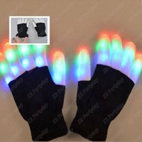 Party Decoration Girls Boys LED Light Glowing Gloves Luminous Flashing Stage Holiday Events Christmas