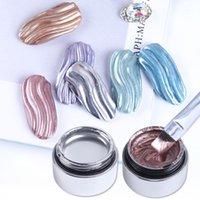 1 adet Metalik Ayna Jel Oje Astar Örümcek Çizgileri Lake Gellak Üst Ceket Baz Çizim Sanat Süslemeleri BE776-11