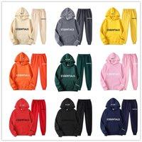 Herren Trainingsanzüge Essential Scoules Trainingsanzug 2 Stück Set Hoodies + Hosen Sportanzüge Männer Winter / Autumer Sweatshirt Hoodies Sportbekleidung für WO