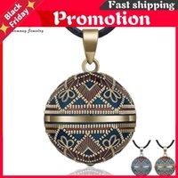 Hängsmycke Halsband Harmony Ball Necklace Vintage Chime Bola för Kvinnor Mode Smycken Present Mexikansk Graviditet 45 '' Kedja 3 Style
