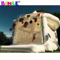 Casa inflável inflável do salto de Bouncy Bouncy Casa saltitante branca do salto da casa de segurança para casamentos