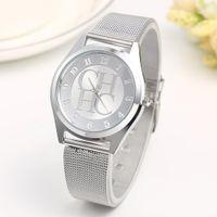 Designer Luxe Merk Horloges Goud Geneva Casual Quartz Dames Metalen Mesh Roestvrij stalen Jurk Pols Es Relogio Feminino Klok