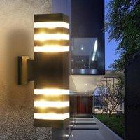 Outdoor Wall Lamps Waterproof GU10 LED Lights Porch Light Up And Down Dual-Head Aluminum Lamp For Garden Yard Corridor Balcony