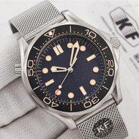 ساعة رجالية فاخرة للرجال احترافي بحري غواص ووتش الحركة التلقائية 42 ملليمتر السيراميك مدي ماستر مصمم