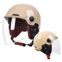 Motorcycle Helmets Half Helmet Man Woman Vintage Removable Scooter Cycling Bike Electric Moto Open Face Safety