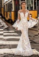 Other Wedding Dresses Romantic Boho Mermaid Long Sleeve Lace Floral Applique Civil Bridal Gowns For Women Robe De Soirée Mariage