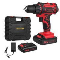 Professiona Drills eléctricos Firecore 20V 25 + 1 Destornillador de broca inalámbrico Set Torque Driver inalámbrico Litio-Ion Battery Herramienta de energía