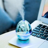 USB Portable Desktop Egg Air Humidifier Essential Oils Diffusers Mist Air Humidifier For Home Office Bedroom Baby Room Car Metalic color