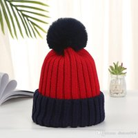 Fashion Removable Fur Pompoms Winter Warm Wool Knitted Hats for Women Candy Color Skullies Beanies Cap Female Bonnet Gorro