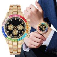 Designer Luxury marca relógios vendendo hip hop homens diamante gelado cor strass moda brilhante para