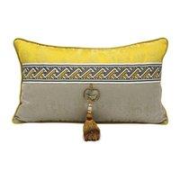 Cushion Decorative Pillow Modern Metal Tassel Cushion Cover Decorative Living Room Sofa Luxury Light Gold Throw Pillows