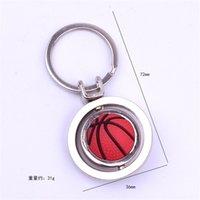 3D Spor Dönen Futbol Anahtarlık Basketbol Anahtarlık Hediyelik Eşya Golf Kolye Anahtar Yüzükler Metal Anahtarlık Hediyeler Hip Hop Takı 203 U2