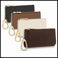 Moda designers de luxo França estilo moeda moeda homens mulheres senhora de couro bolsa chave mini carteiras cartão de crédito carteira número com pó