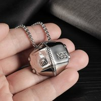 Personality 2021 fashion new stainless steel N95 mask modeling pendant trend versatile hip hop Necklace45YP