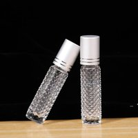 10ML Essential Oil Roller Bottles Empty Glass Roll On Essentials Oils Perfume Essence Travel Container Sample Emptys Bottle LLA7343