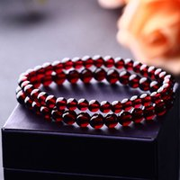 Natural wine red garnet single ring bracelet women's fashion versatile crystal Jewelry Bracelet