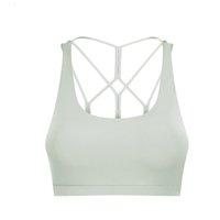 lu-S2009 yoga wear luxury designer fashion sports bra with chest pad breathable comfortable underwear