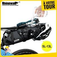 Новое поступление Rhinowalk велосипед водонепроницаемый велосипед седло мешок Светоотражающая большая емкость Складной хвост задний пакет Велоспорт MTB багажник Pannier черный