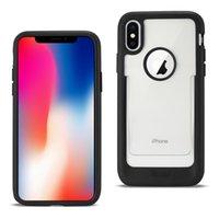 Reiko iPhone X / iPhone XS Polymer Telefono Phone Scheda Slot Slot Storm resistente alla sporca in nero / blu / menta verde / trasparente bianco