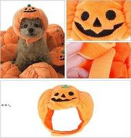 Pet Hair Ornaments Halloween Decorations Dog Apparel Funny Pumpkin Hats Cute Animal Costume Personality Transformed Headgear Cat NHF10512